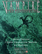 MrGone's Vampire the Masquerade Third Edition 1-Page Character Sheets