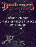 MrGone's Vampire the Dark Ages Second Edition 2-Page Character Sheets