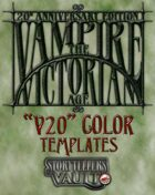Vampire: The Victorian Age Color Templates (InDesign)