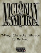 MrGone's Victorian Age Vampire 2-Page Character Sheets