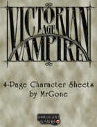 MrGone's Victorian Age Vampire 4-Page Character Sheets