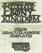 Kindred of the Ebony Kingdom Color Legacybook Templates (Word)