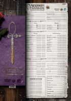 VAMPIRE: THE DARK AGES Character Sheets [1st Edition]