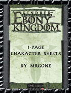 MrGone's Kindred of the Ebony Kingdom 1-Page Character Sheets