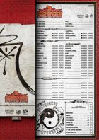 Kindred of the East character sheet