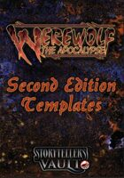 Werewolf: The Apocalypse 2nd Edition Templates