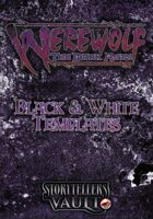 Werewolf: The Dark Ages Black & White Templates