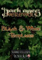 Dark Ages: Werewolf Black & White Templates