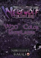 Werewolf: The Dark Ages Color Templates