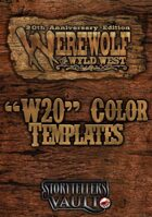 Werewolf: The Wyld West Color Templates