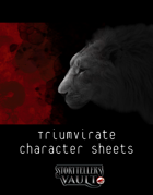 Triumvirate Character Sheets for The Darkest Timeline