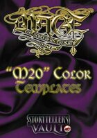 Mage: The Sorcerers Crusade Color Templates