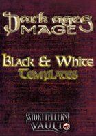 Dark Ages: Mage Black & White Templates