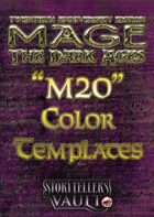 Mage: The Dark Ages Color Templates