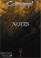 Gangrel Notes Editable