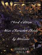 MrGone's Werewolf The Apocalypse Third Edition Misc. Character Sheets