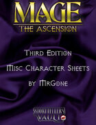 MrGone's Mage The Ascension Third Edition Misc Character Sheets