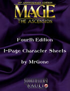 MrGone's Mage The Ascension Fourth Edition 1-Page Character Sheets
