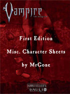 MrGone's Vampire the Requiem First Edition Misc. Character Sheets