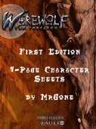 MrGone's Werewolf the Forsaken First Edition 4-Page Character Sheets