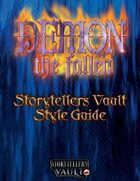 Demon: The Fallen Storytellers Vault Style Guide