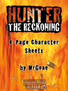 MrGone's Hunter The Reckoning 4-Page Character Sheets