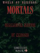MrGone's World of Darkness Mortal Character Sheets