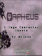 MrGone's Orpheus 1-Page Character Sheets