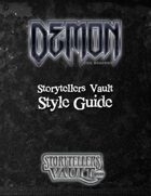 Demon: The Descent Storytellers Vault Style Guide