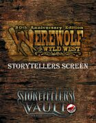 20th Anniversary Werewolf the Wyld West Storytellers Screen