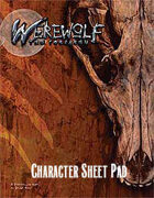 Werewolf: The Forsaken Character Sheet Pad