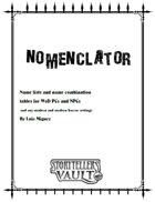 Nomenclator - v. English
