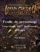 Feuille de personnage Loup-Garou l'Apocalypse W20