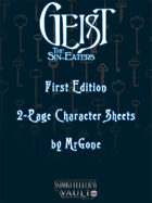 MrGone's Gesit the Sin-Eaters First Edition 2-Page Character Sheets