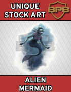 Unique Stock Art - Alien Mermaid