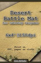 Wargames Battle Mat 6'x4' - Desert (021)