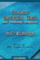 Wargames Battle Mat 6'x4' - Ocean (071)