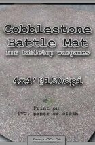 Wargames Battle Mat 4'x4' - Cobblestone City (041b)
