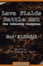 Wargames Battle Mat 6'x4' - Lava Fields (051)