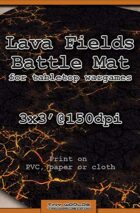 Wargames Battle Mat 3'x3' - Lava Fields (051c)