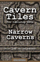 Cavern Tiles - Narrow Chambers & Corridors - RPG Game Tiles