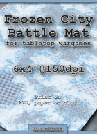 Wargames Battle Mat 6'x4' - Frozen City (032)