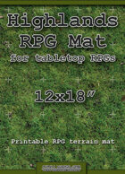 "RPG Battle Mat 12""x18"" - Highlands Grass"