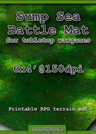 Wargames Battle Mat 6'x4' - Sump Sea (081)