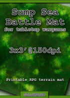 Wargames Battle Mat 3'x3' - Sump Sea (081c)