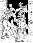 Misfit Studios Presents: Dinosaur and Cowboys by Gary Dupuis