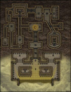 VTT Map Set - #007 Desert Tomb