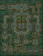 VTT Map Set - #008 The Emerald Keep