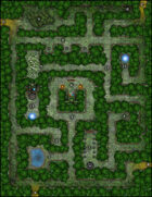 VTT Map Set - #022 Enchanted Hedge Maze