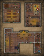VTT Map Set - #064 Seedy Tavern, Magic Shop & Blacksmith